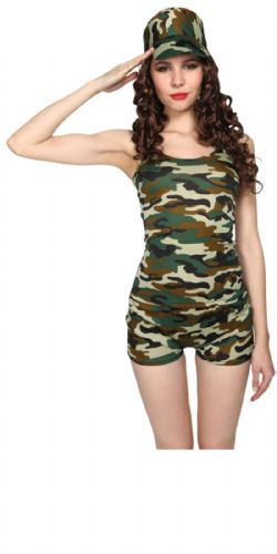Bootcamp Babe - Sexy Soldier Fancy Dress (Wicked SF-0128)